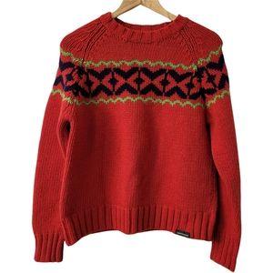 Vintage Lambs Wool Festive Sweater Fair Isle Jumper